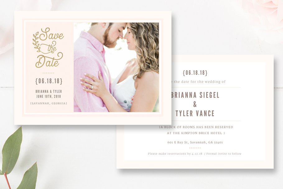 Save the Date PSD Template in Flyer Templates