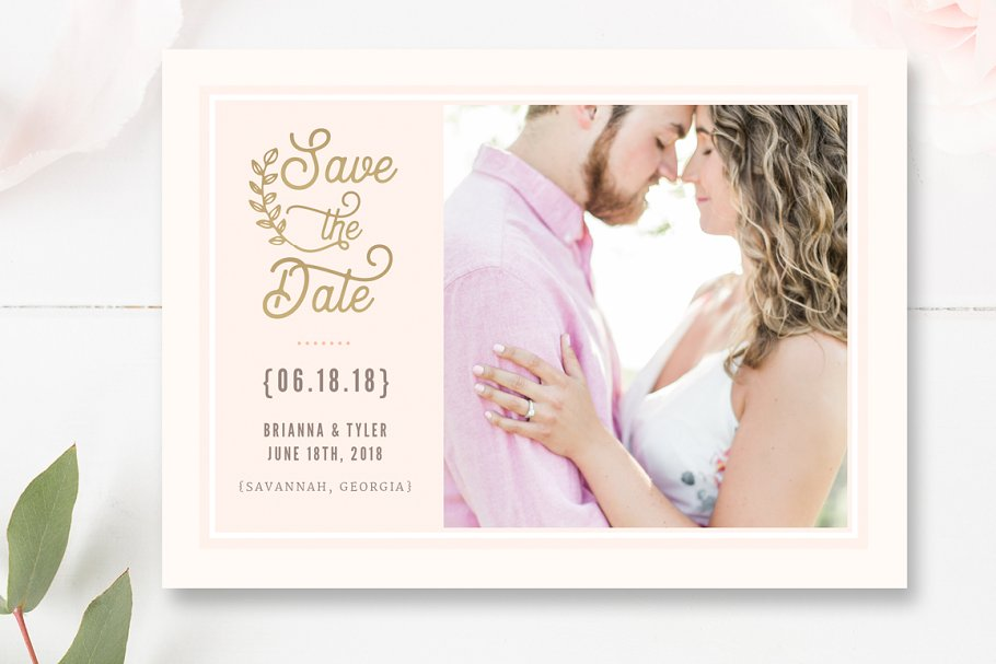 Save the Date PSD Template in Flyer Templates - product preview 2