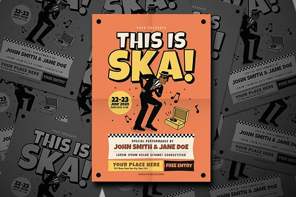 This Is Ska Music Flyer
