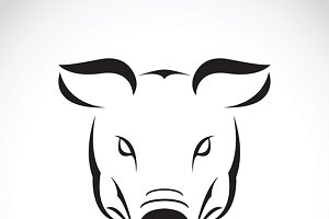Vector of a pig head design.