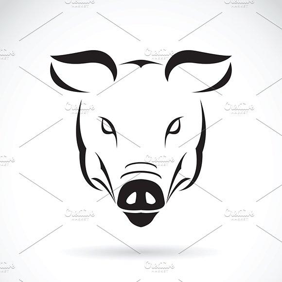 Vector Of A Pig Head Design