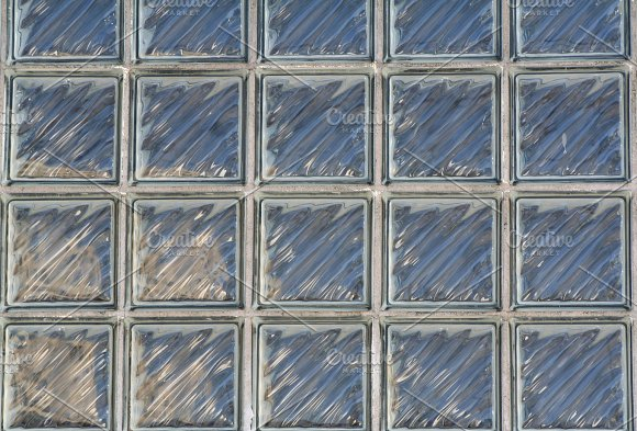 Square Glass Brick Wall Background