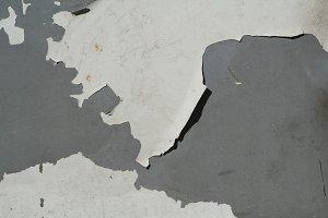 Peeling Paint on Gray Metal