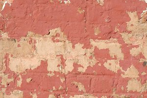 Peeling Paint&#x3B; Plaster&#x3B; Brick Wall