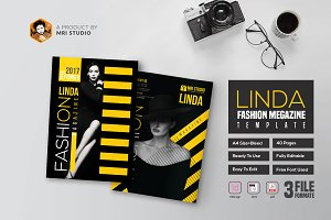 Linda Fashion Megazine Template