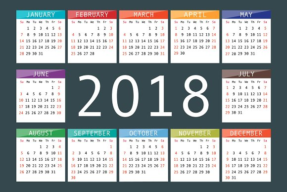 Calendar 2018 Starts From Sunday