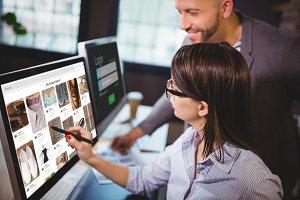 Composite image of composite image of website page