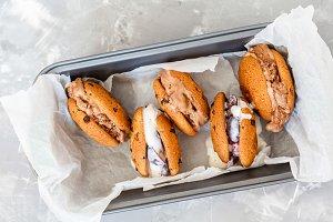 Homemade ice cream sandwich