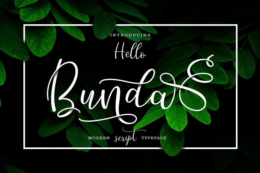 0ae75226e6 Hello Bunda Typeface ~ Script Fonts ~ Creative Market