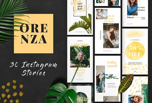 ORENZA Instagram Stories