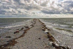 Cape of rocks in the sea