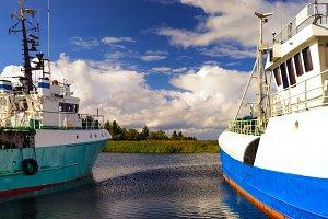 Fishing ships in the Baltic Sea