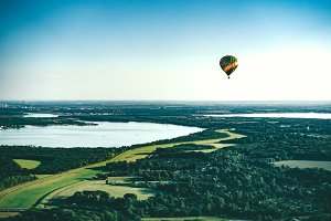 Vivid Summer Hot Air Balloon Ride