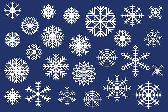 Snowflakes Icons Vector Set