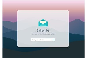 web subscribe ui interface design