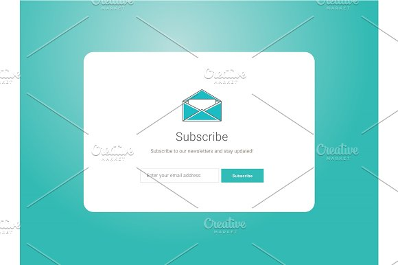Web Subscribe Ui Interface Design