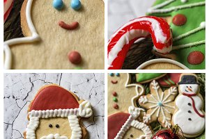 Christmas cookies.Collage