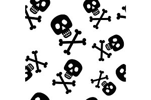 pattern crossbones black