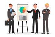 Team of Entrepreneurs Make Statistics Presentation