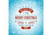 Typographic Retro Christmas Design