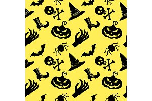 pattern halloween witch