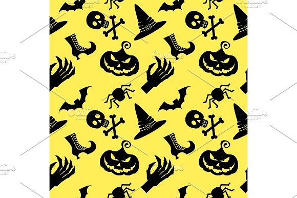 pattern halloween witch