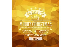 Typographic Retro Christmas Design