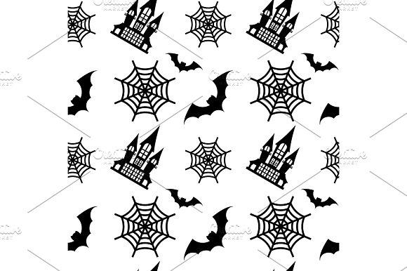 Pattern Old House Black