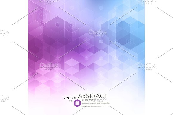 Vector Abstract Geometric Background Template Brochure Design