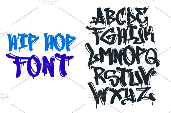 Hip hop graffiti font blackletter fonts creative market thecheapjerseys Image collections