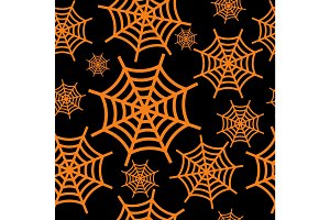 spider web orange