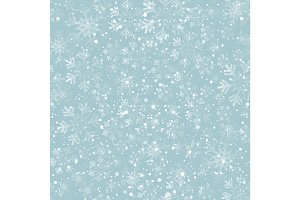 Christmas snowflakes seamless background