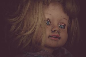 Vintage Creepy Doll