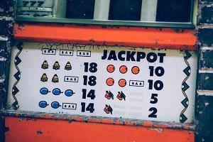 Vintage Retro Style Jackpot