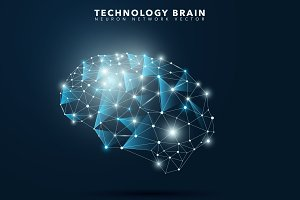Technology Abstract Brain
