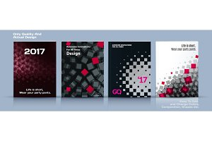 Set of Business vector template, brochure design, abstract annual report
