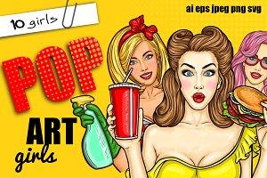 10 Pop-Art Girls