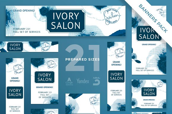 Banners Pack Ivory Salon