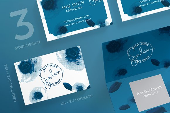 Business Cards Ivory Salon
