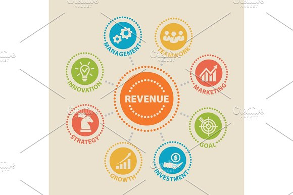 Revenue Concept With Icons