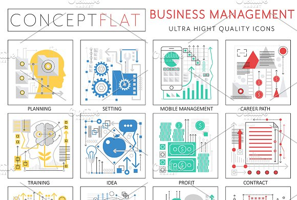 Business Management Concept Icons