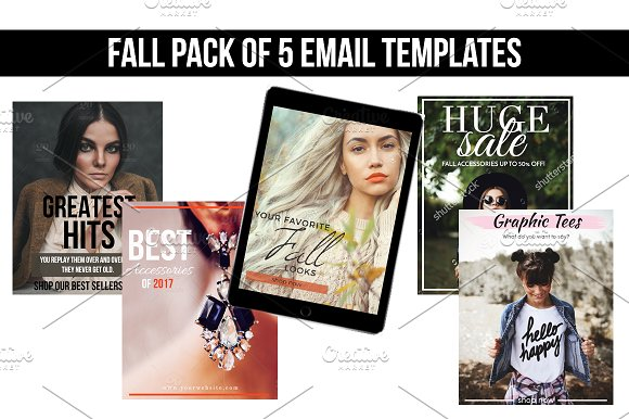 Fall Email Templates (5 Pack)