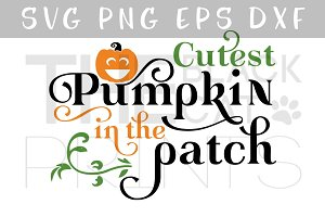Cutest pumpkin SVG DXF EPS PNG