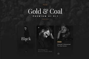 Gold & Coal - UI Kit