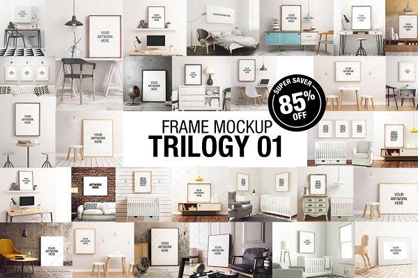 Frame Mockup Trilogy Bundle 01