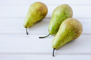 Three green pear