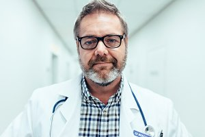 Mature male medical doctor