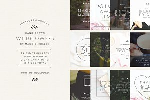 Wildflowers Instagram Template Pack