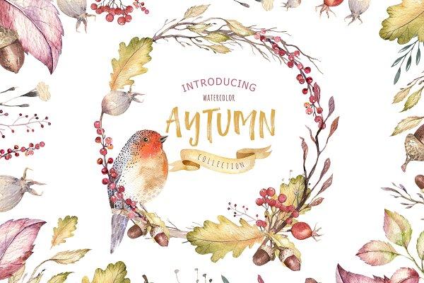 Watercolor autumn mood II