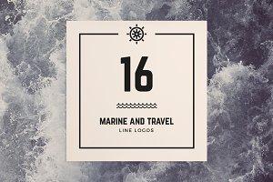 16 Marine & Travel line logos